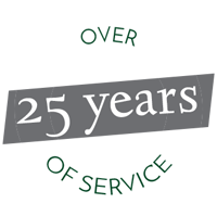 25 Years of Service Logo